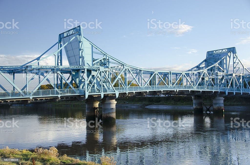 Jubilee Bridge Near Queensferry in Clwyd royalty-free stock photo