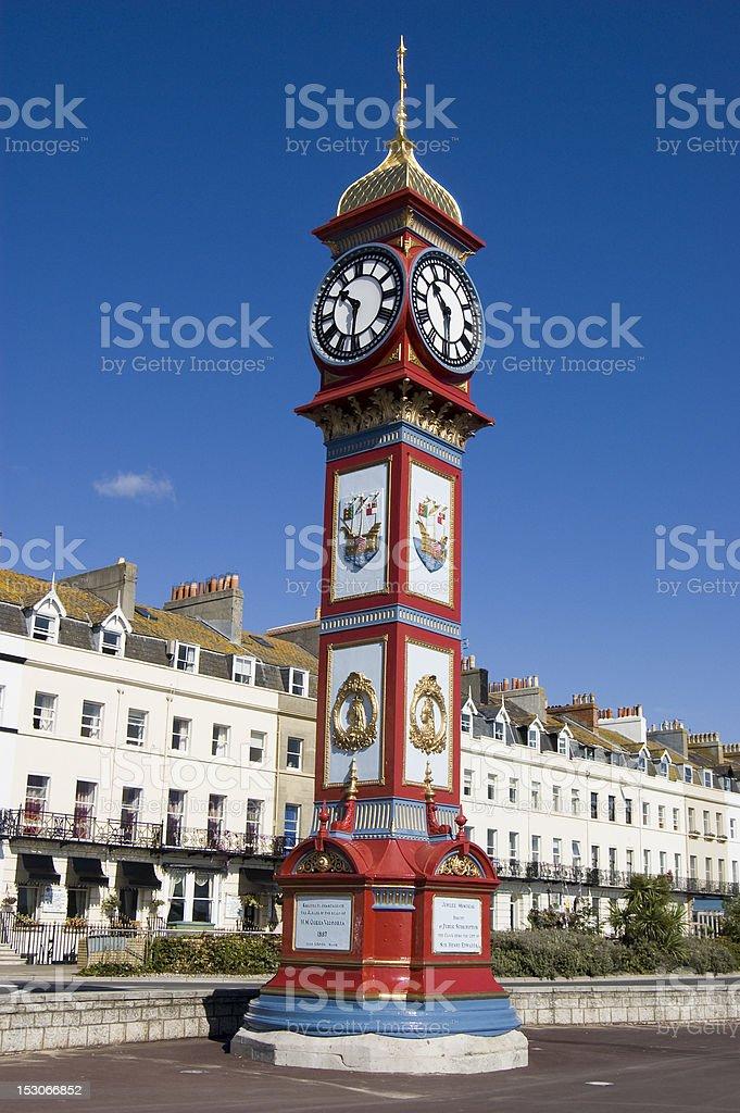 Jubilee Clock, Weymouth stock photo