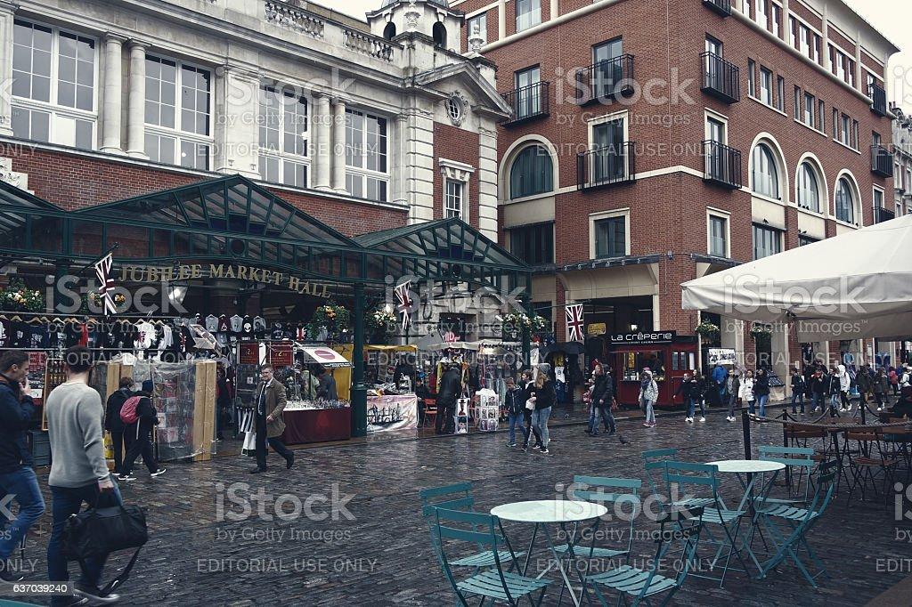 Jubilee Market Hall in London. stock photo