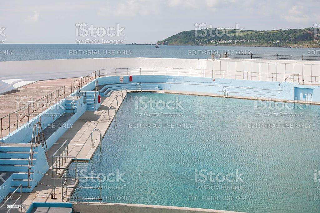 Jubilee Swimming Pool Penzance Cornwall stock photo