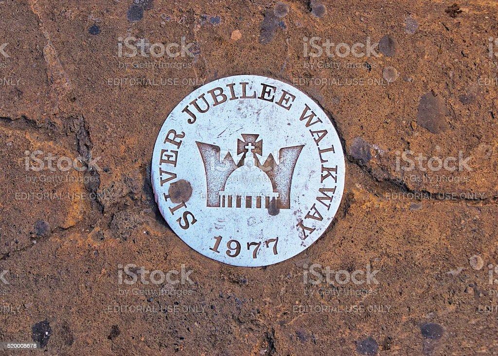 Jubilee Walkway ground marker in London in England stock photo