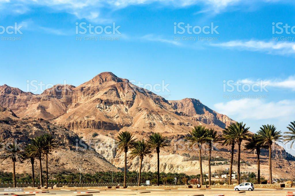 Judaean Mountains near  the Dead Sea - The Holy Land stock photo