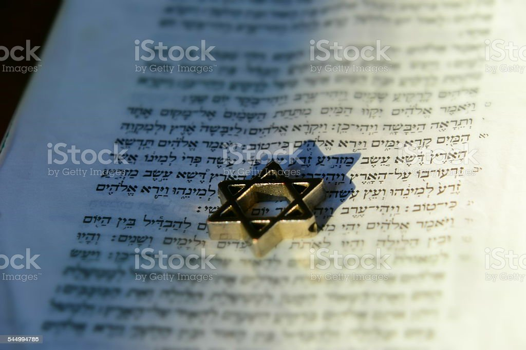 Judaism and faith concept stock photo