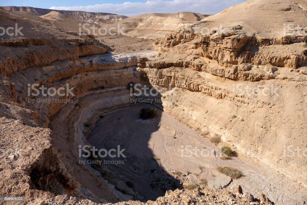 Judea Desert arid landscape. stock photo