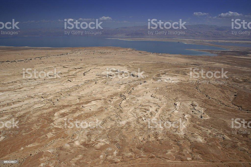 Judean Desert and Dead Sea stock photo