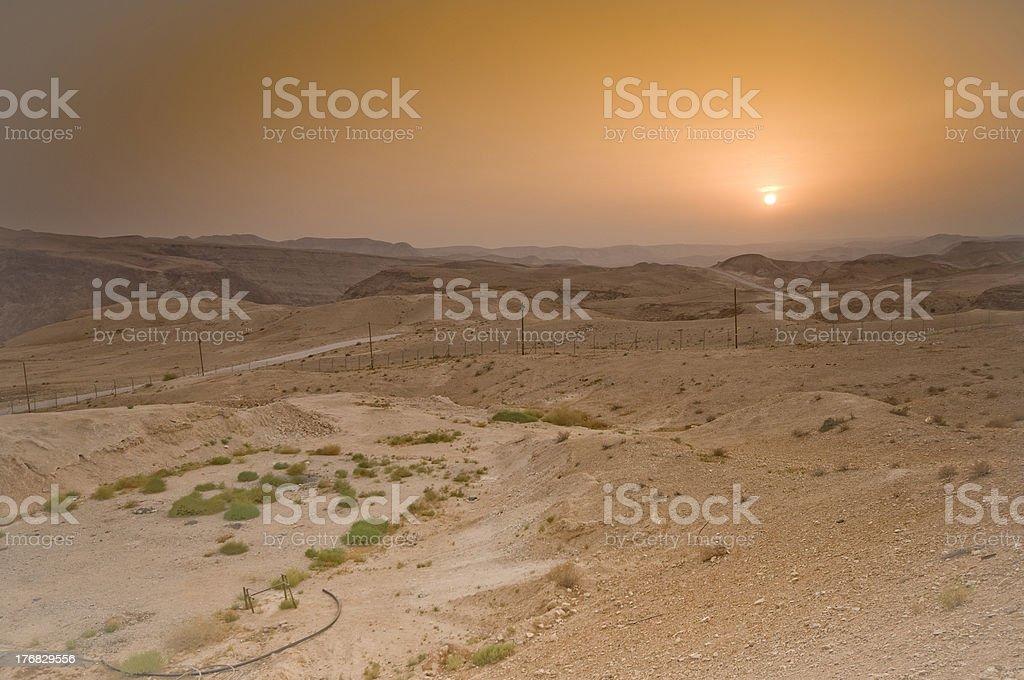 Judean Desert at sunset , Israel royalty-free stock photo