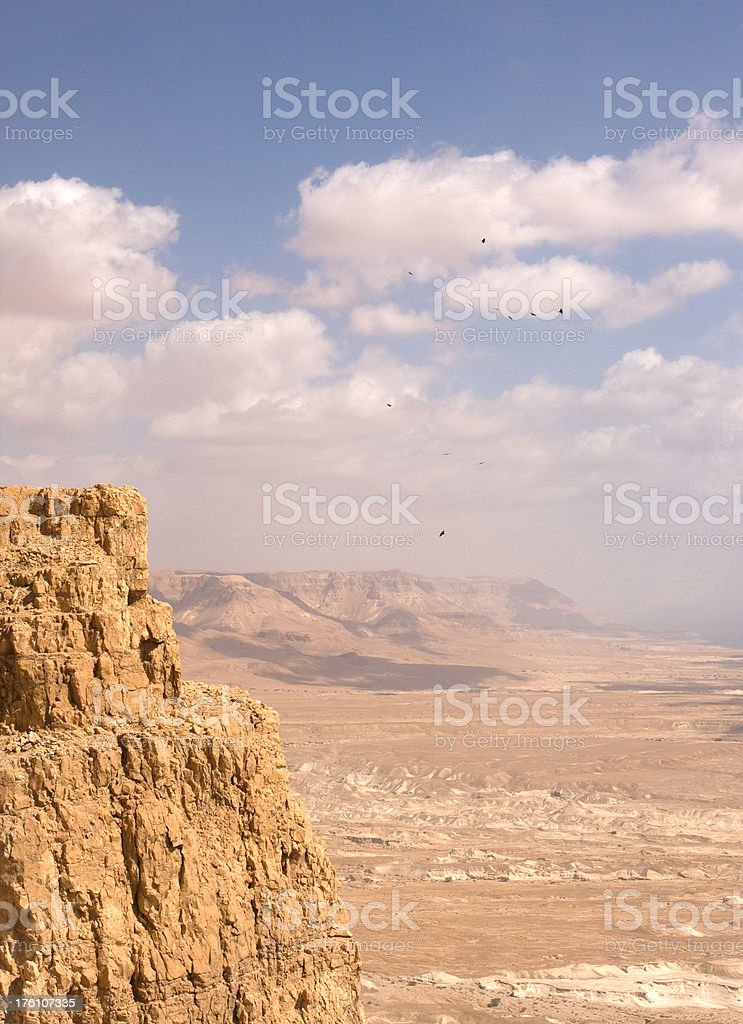 Judean Desert From Masada in Israel royalty-free stock photo