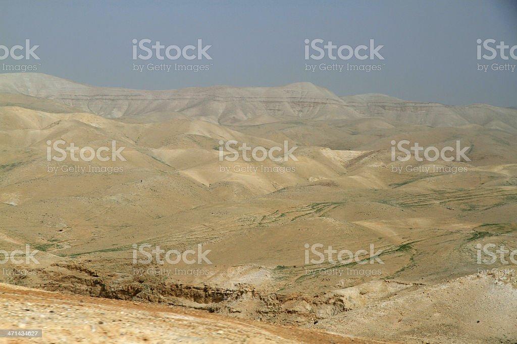 Judean Desert Landscape royalty-free stock photo