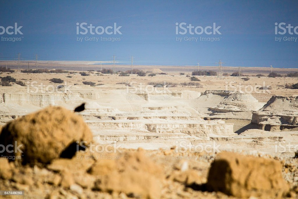 Judean desert view stock photo