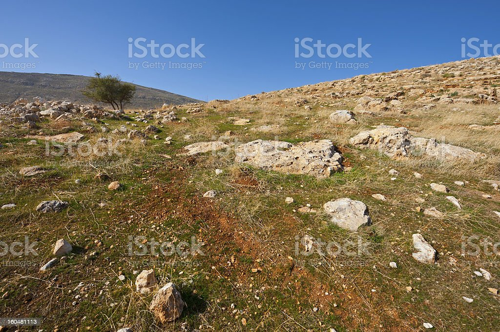 Judean Mountains royalty-free stock photo