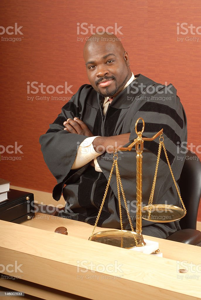 Judge at his desk royalty-free stock photo