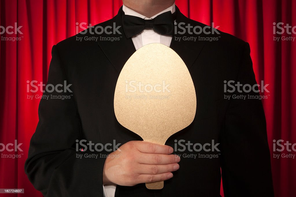 Judge awards score royalty-free stock photo