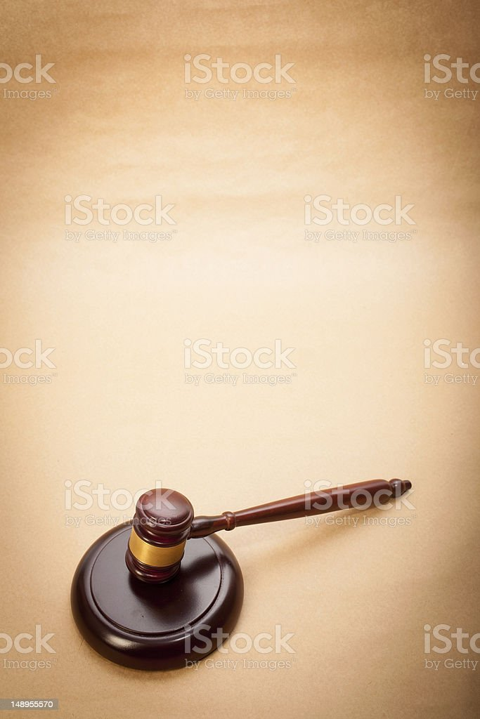 Judge Gavel and Soundboard royalty-free stock photo