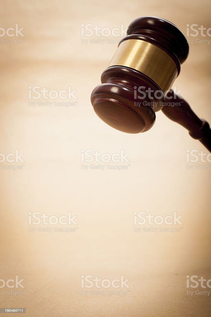 Judge Gavel and Soundboard royalty-free stock photo