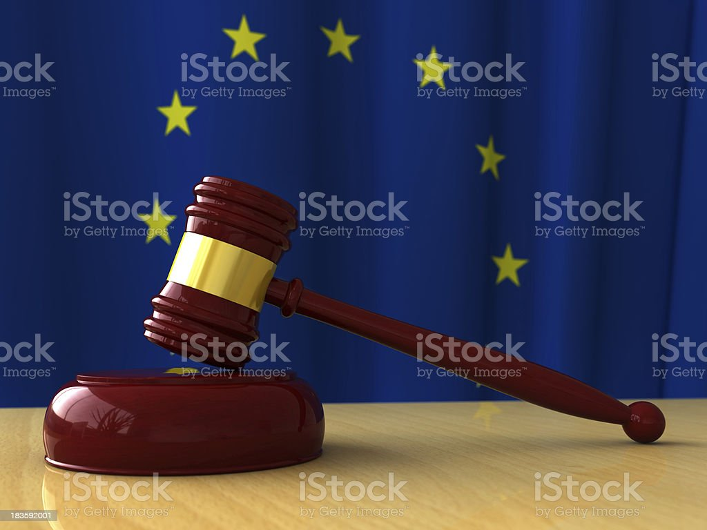Judge hammer royalty-free stock photo