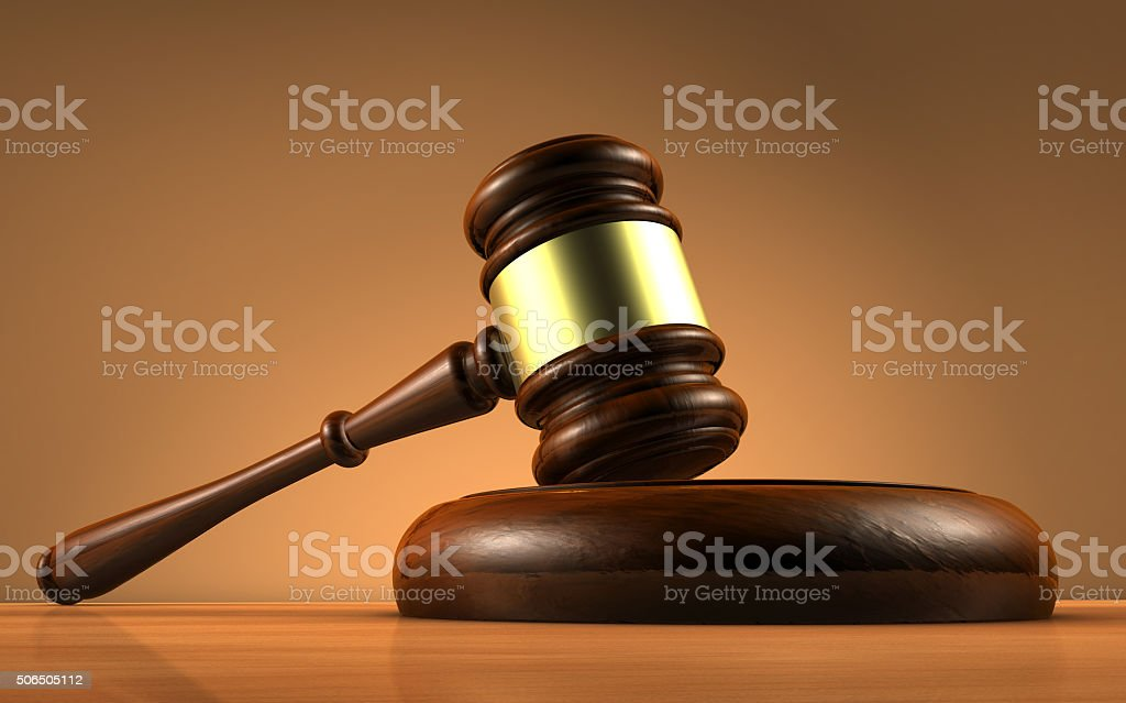 Judge Law And Justice Symbol stock photo