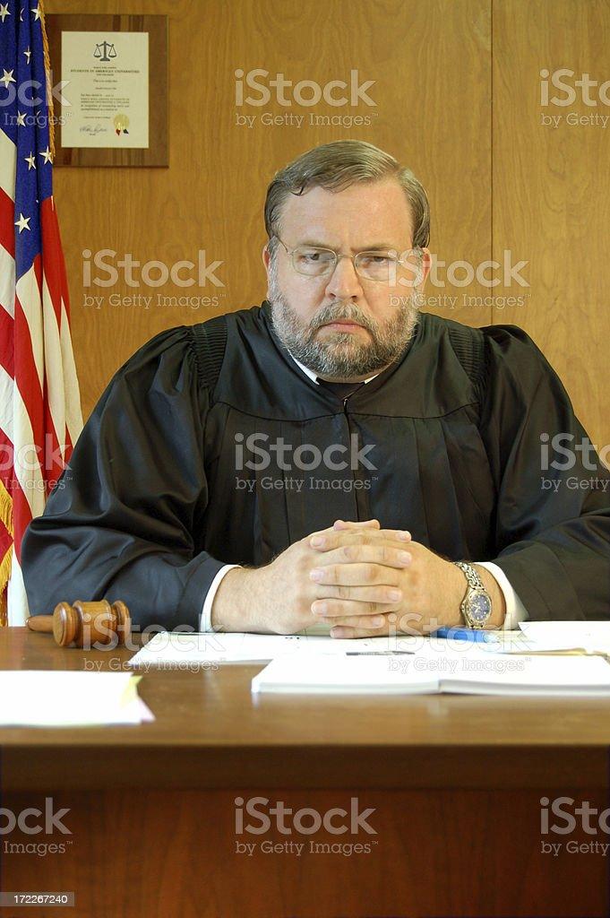 Judge Looks Stern royalty-free stock photo