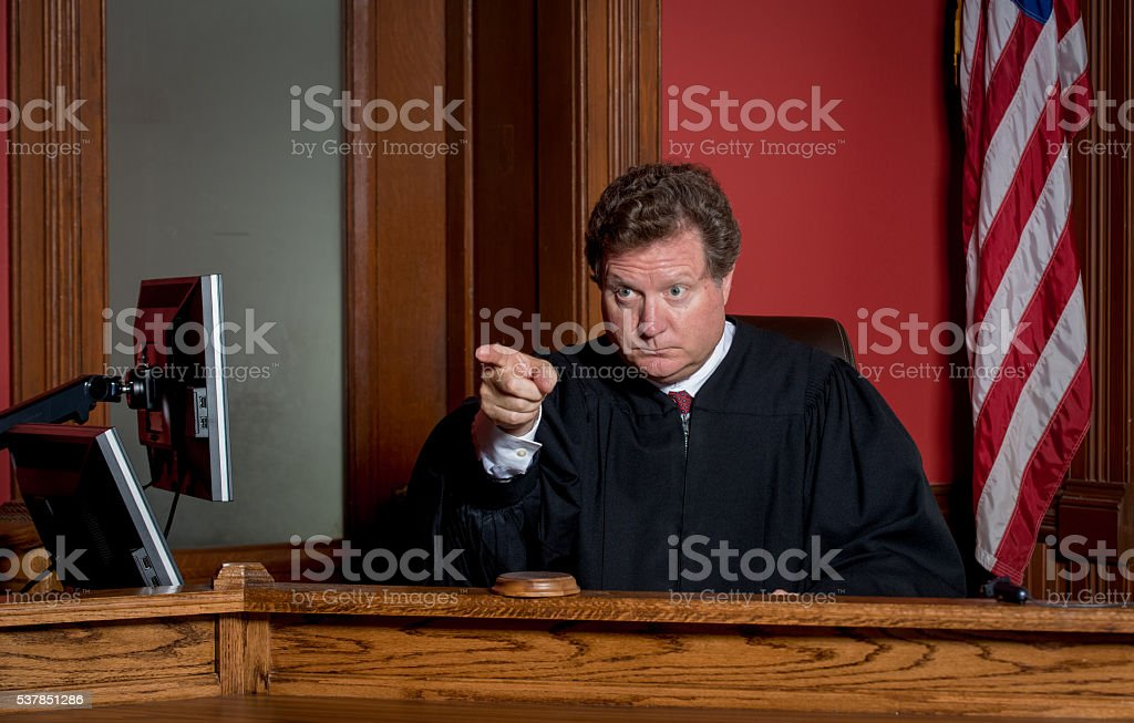 Judge Pointing stock photo