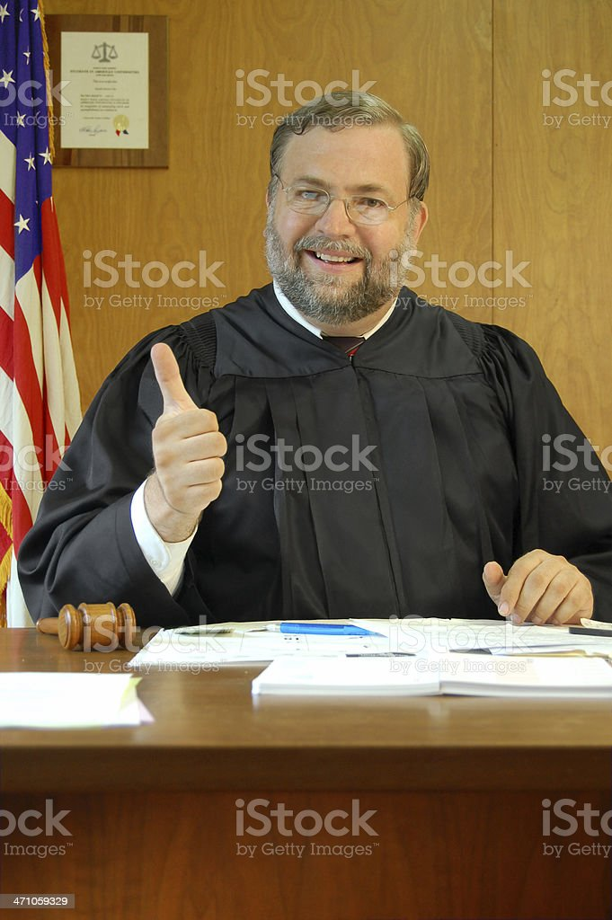 Judge Rules - YES! royalty-free stock photo