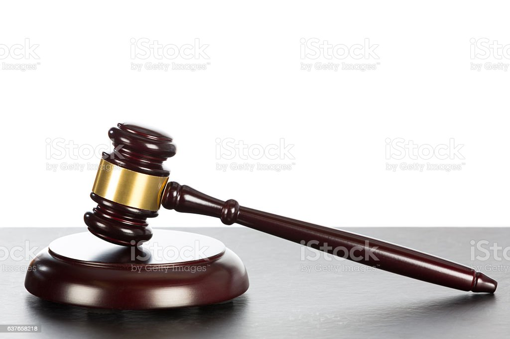 Judge s hammer stock photo
