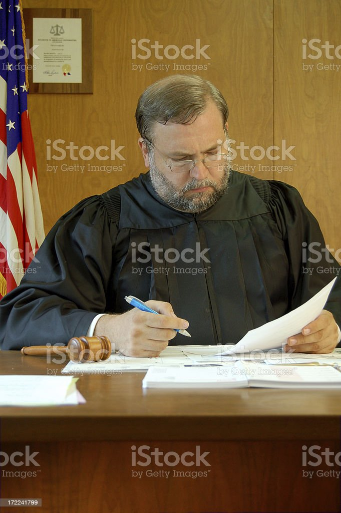Judge Signs a Court Order stock photo
