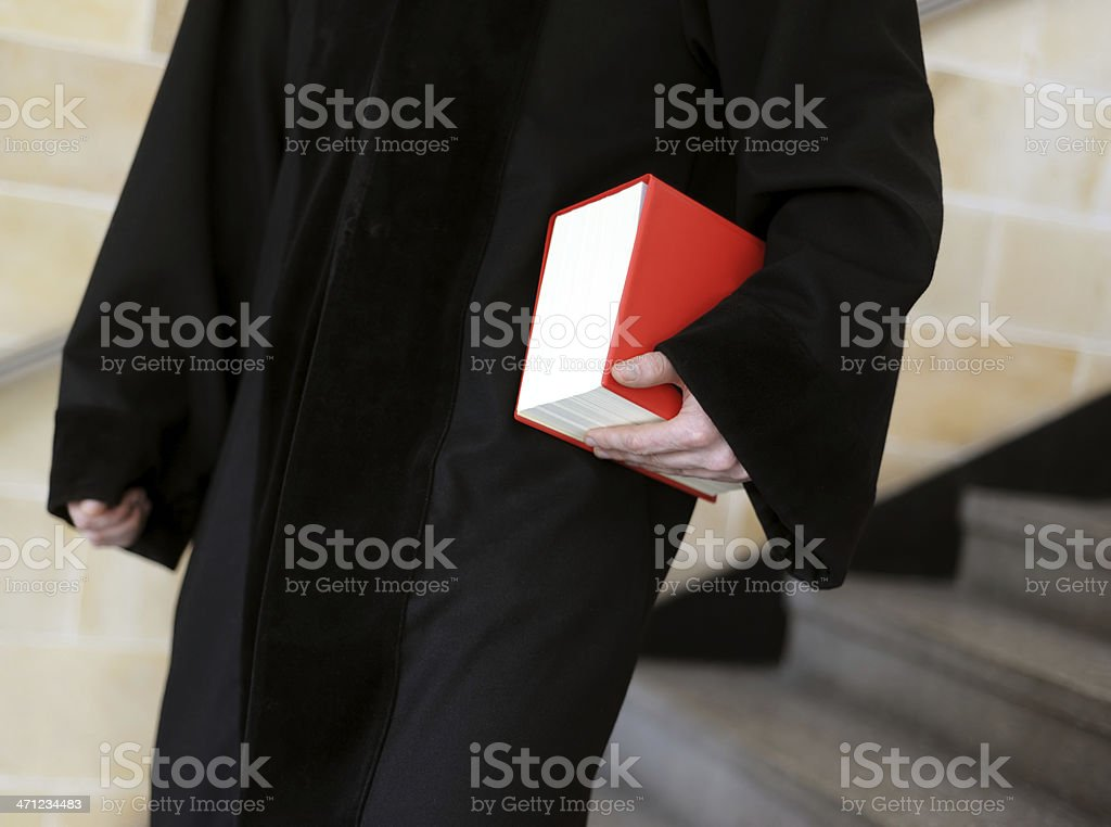 judge with law book royalty-free stock photo