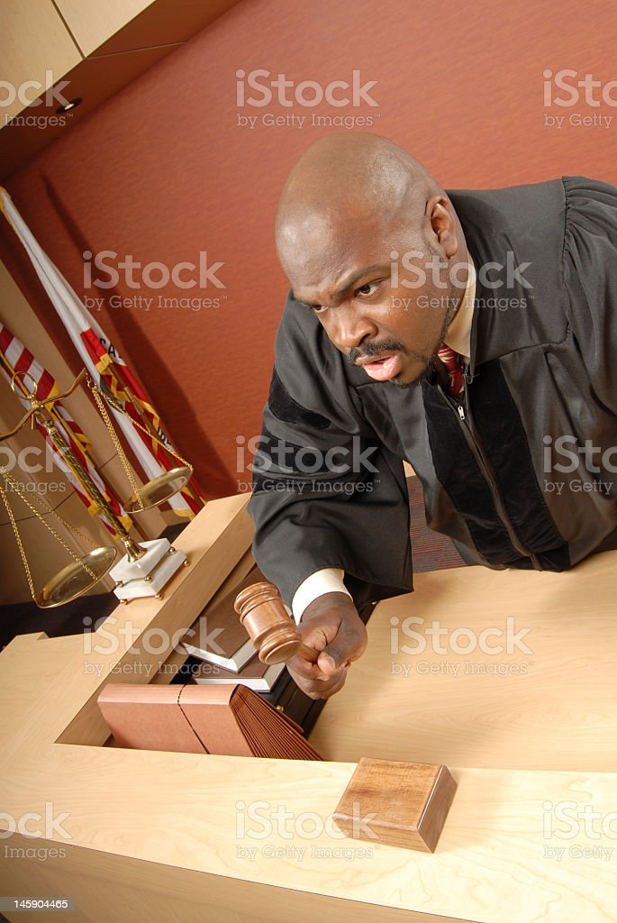 Judge yelling royalty-free stock photo