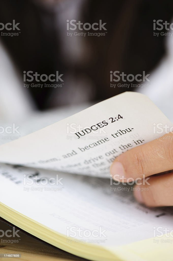 Judges Book from Bible. stock photo
