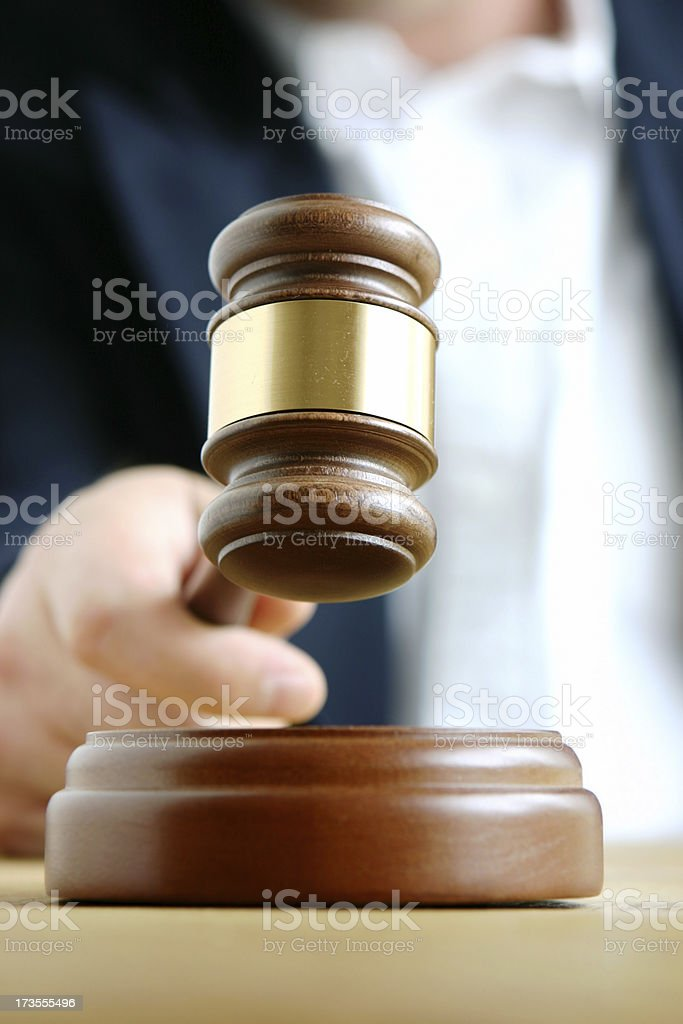 Judges Gavel stock photo