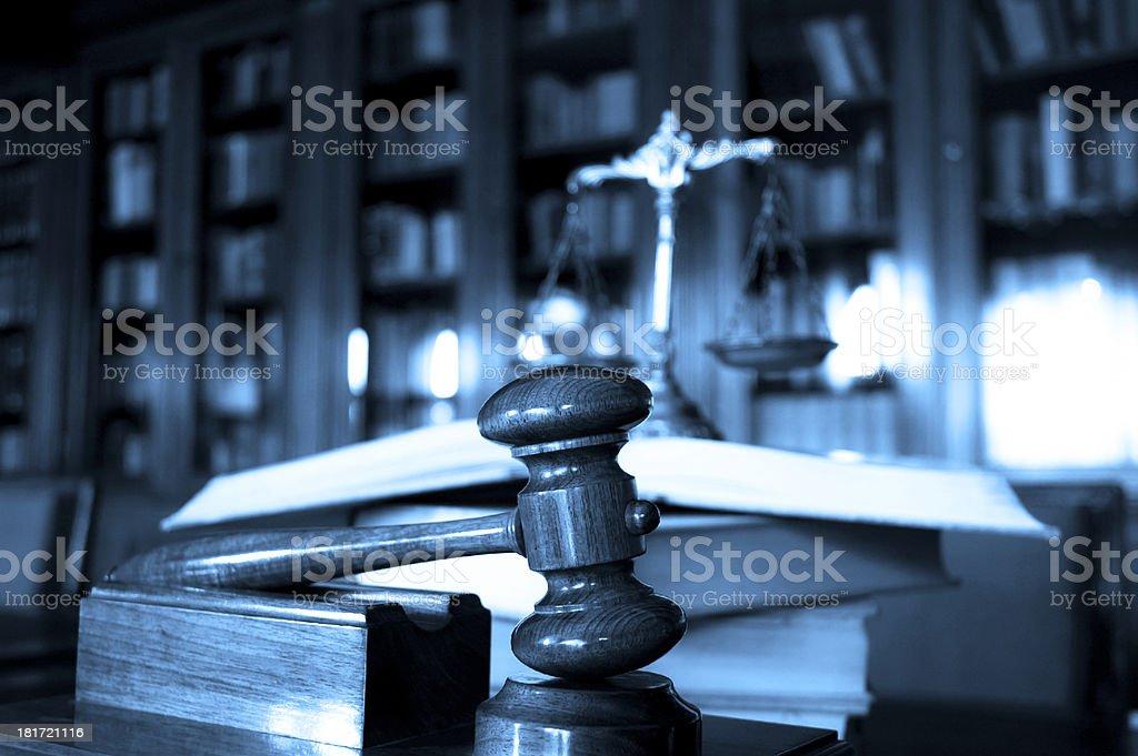 Judge's gavel royalty-free stock photo