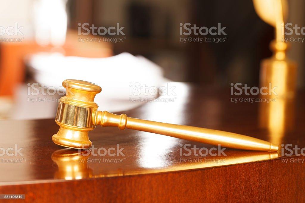 Judges Gavel stock photo