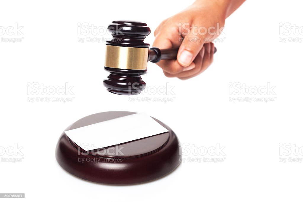 Judge's gavel stock photo