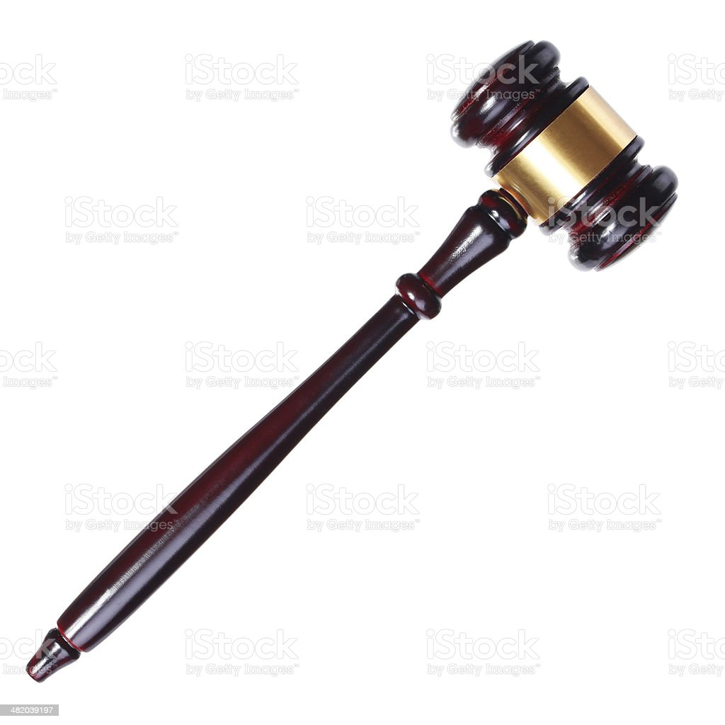 Judges or Auction Gavel isolated stock photo