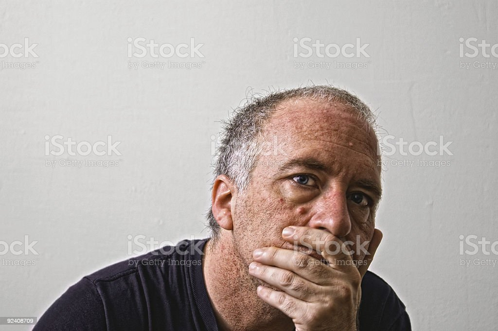 judging  thoughts stock photo
