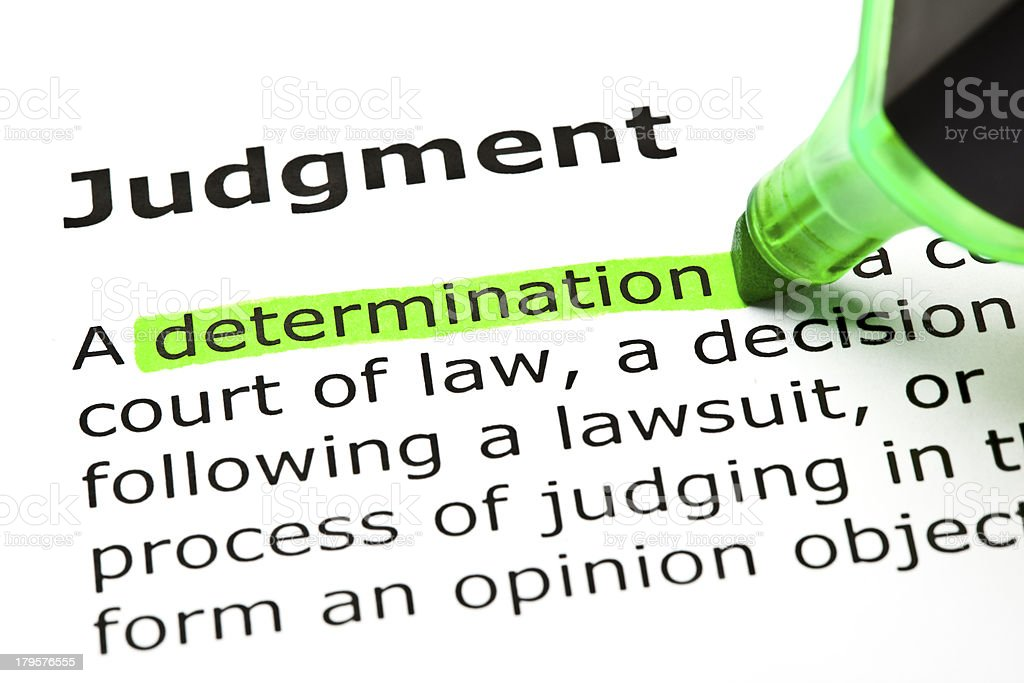 Judgment Definition royalty-free stock photo