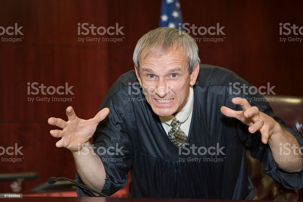 US Judicial System-frustrated judge royalty-free stock photo