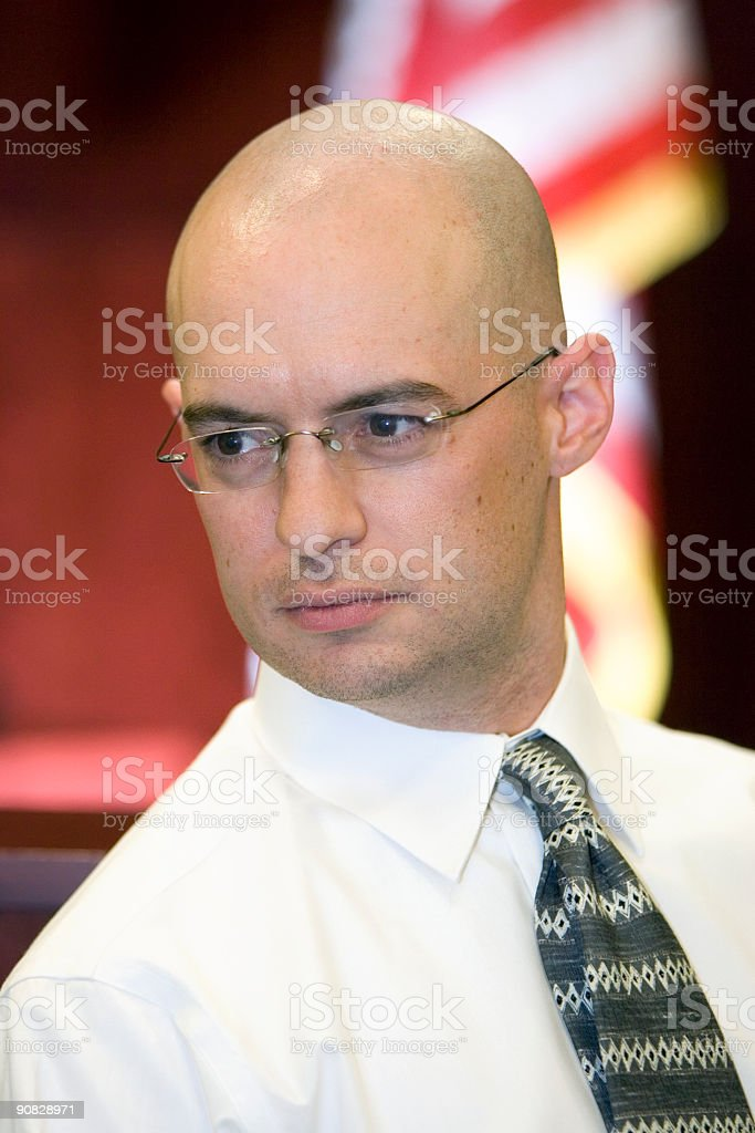 US Judicial System-intent male royalty-free stock photo