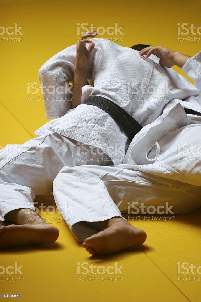 Judo fight royalty-free stock photo