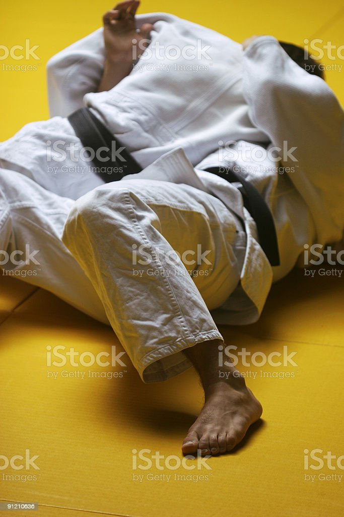 Judo fighters stock photo
