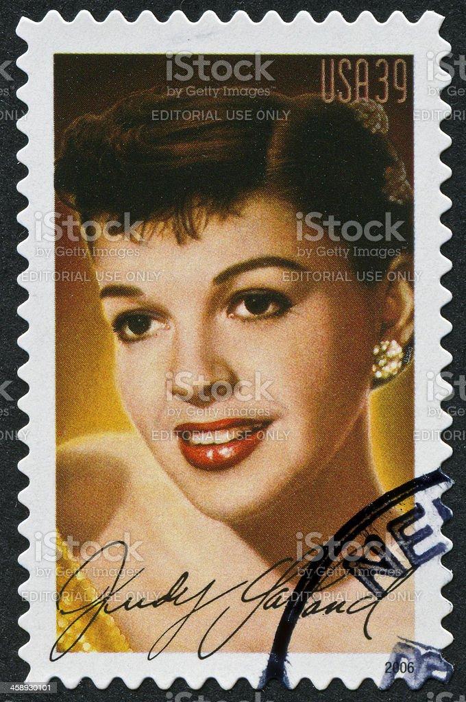 Judy Garland Stamp stock photo