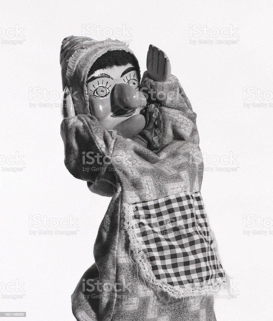 Judy puppet. stock photo