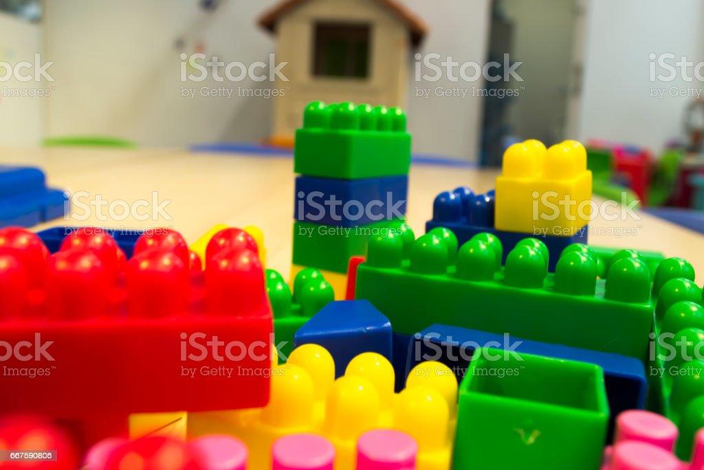 juego de construccion niños stock photo