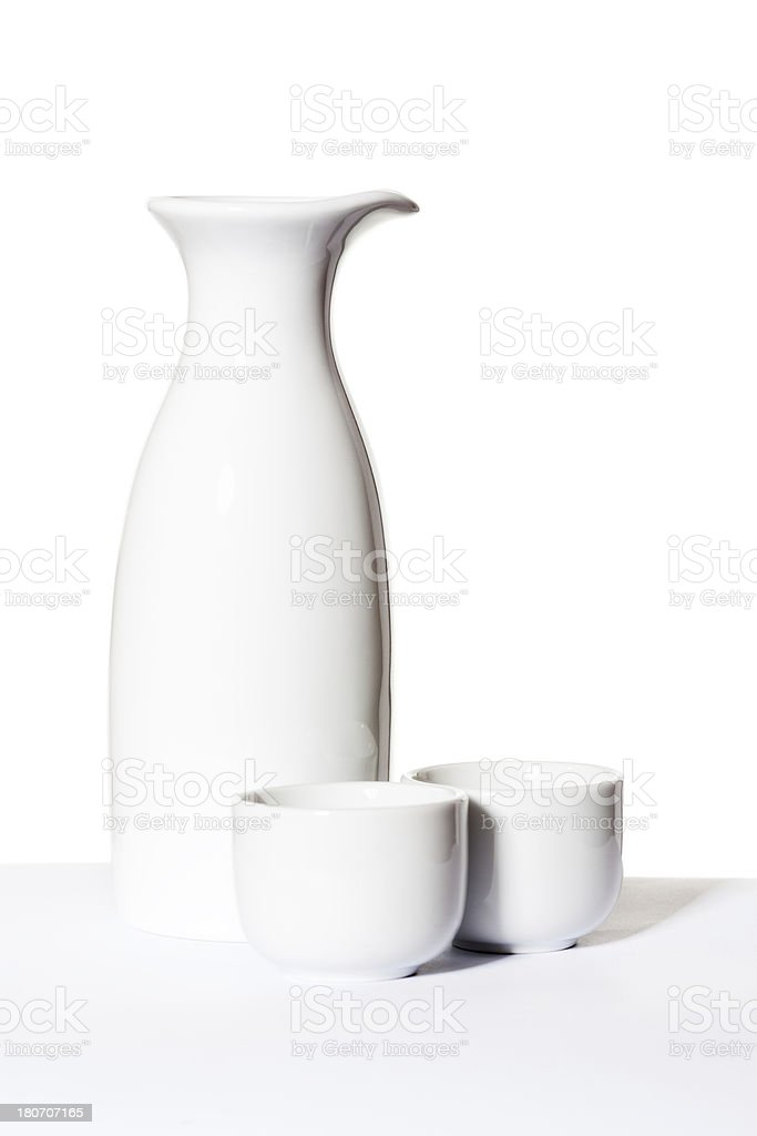 Jug and cups royalty-free stock photo
