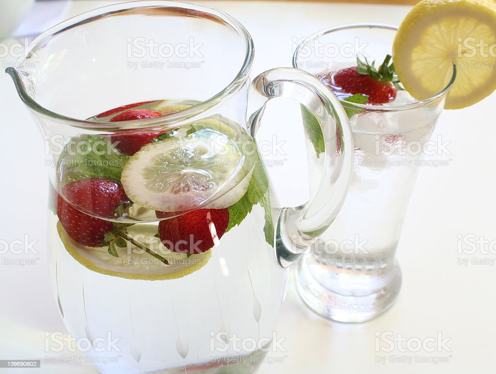 jug and glass of water royalty-free stock photo