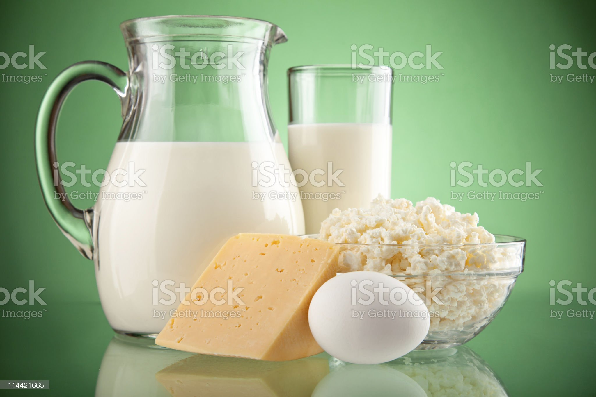 jug and glass with milk royalty-free stock photo