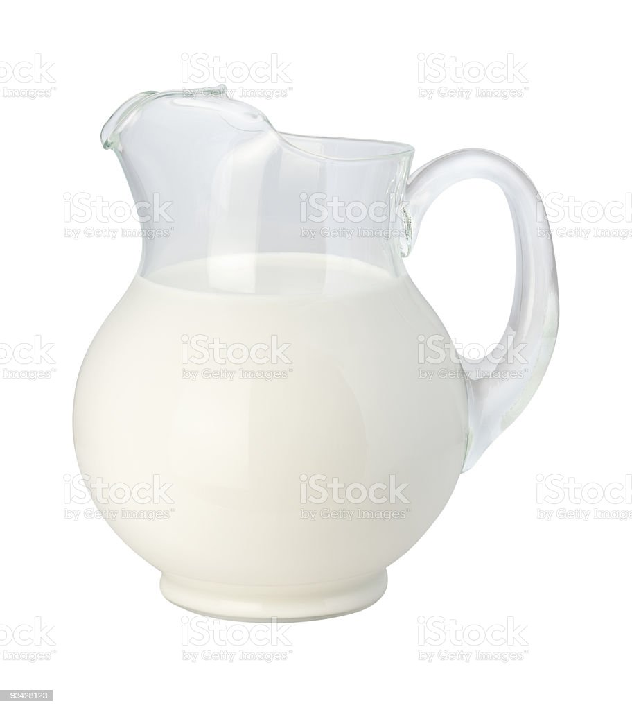 A jug full of milk ready to be served royalty-free stock photo