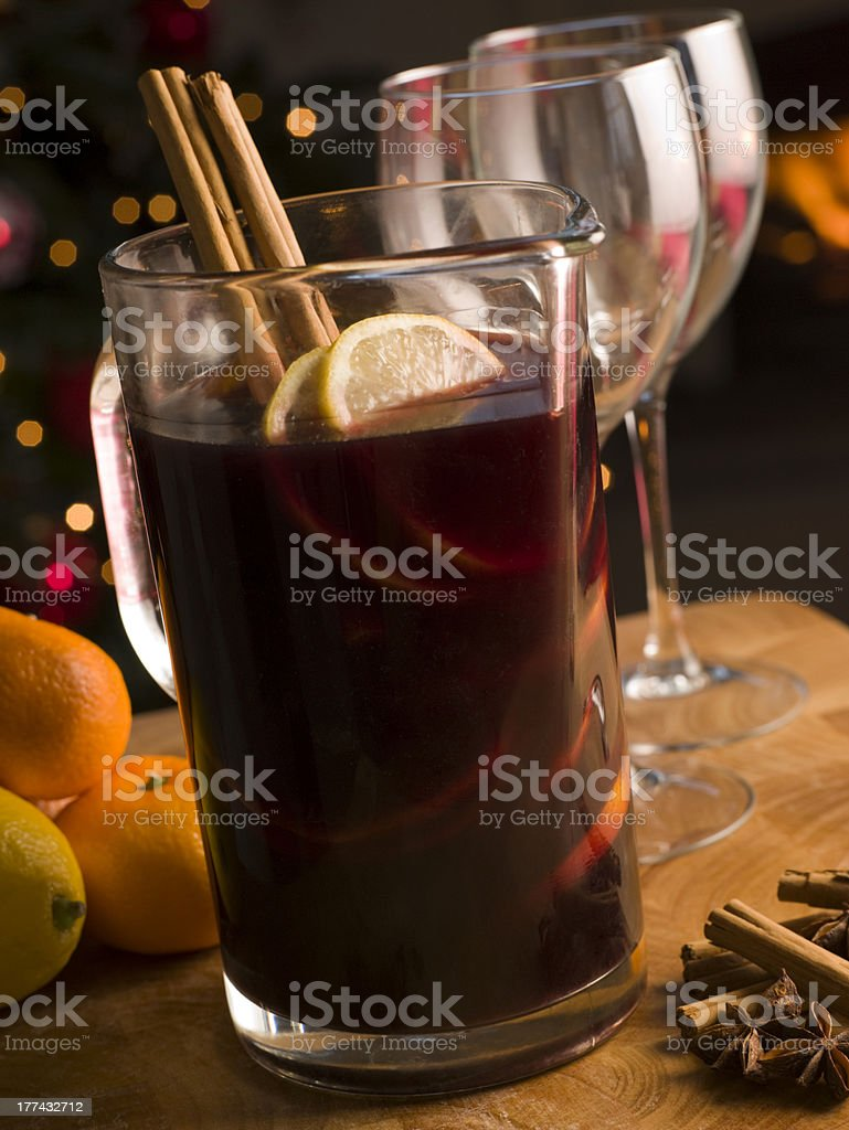 Jug of Mulled Wine royalty-free stock photo