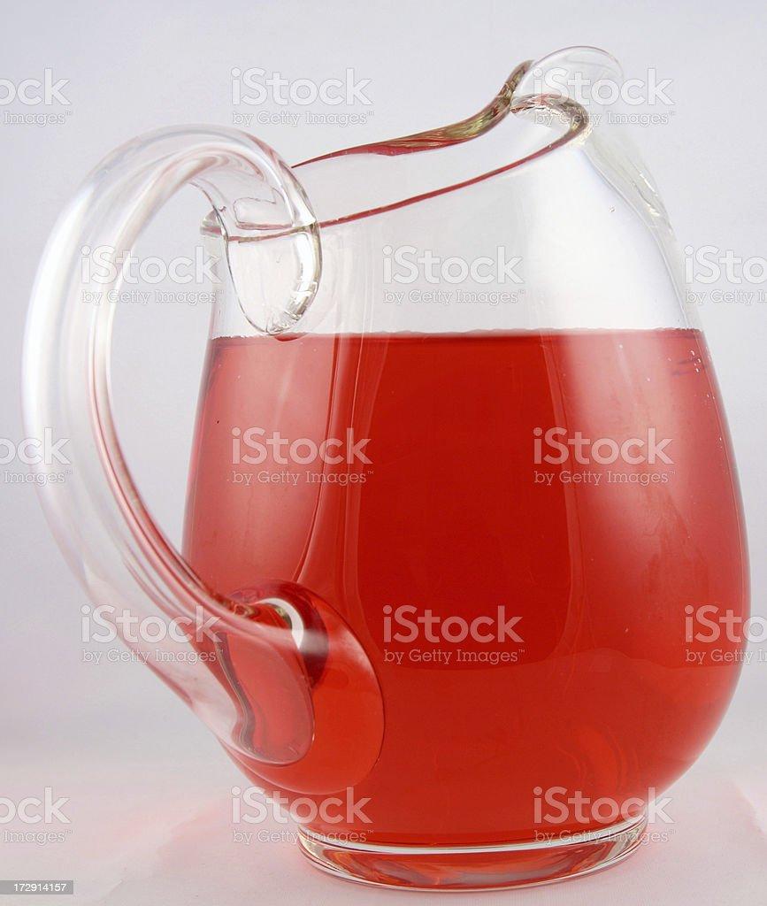 Jug of red liquid royalty-free stock photo