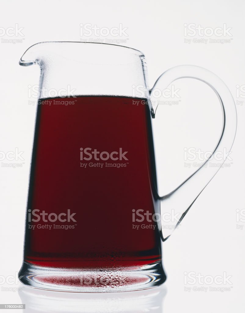Jug of red liquid royalty-free stock photo