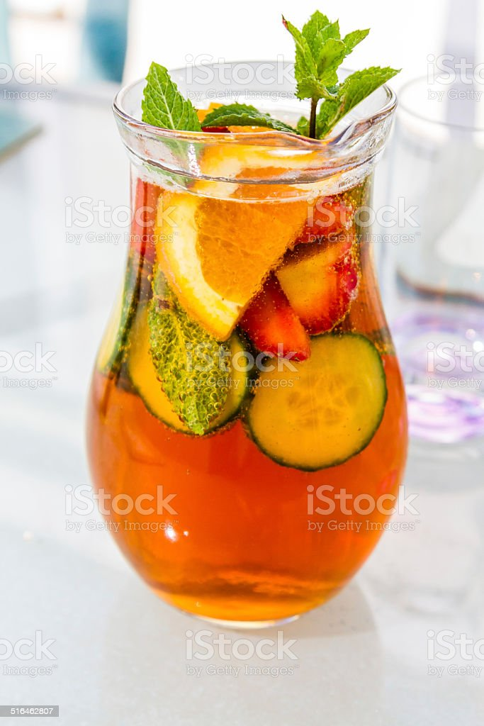 Jug of Summer Cup stock photo